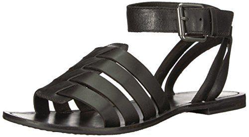 FRYE Women's Riley Hurache 2 Piece Sneaker, Black, 7.5 M US