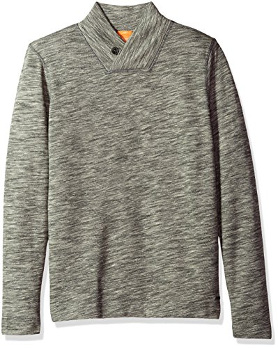 BOSS Orange Men's Woolish Sweatshirt, Light/Pastel Grey, XL