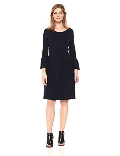 A X Armani Exchange Women's Slight Peplum Work Dress, Navy, S