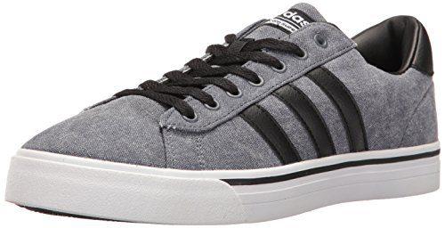 adidas Men's Cloudfoam Super Daily Fashion Sneakers, Black/Black/White, (11 M US)