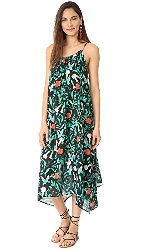 Kate Spade New York Women's Cover up Maxi Dress, Black, Medium