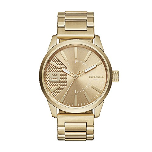 Diesel Men's 'RASP' Quartz Stainless Steel Casual Watch, Color Gold-Toned (Model: DZ1761)