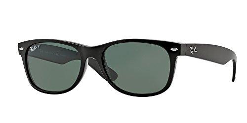Ray-Ban Black/Crystal Green Polarized NEW WAYFARER