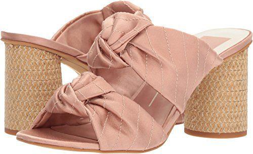 Dolce Vita Women's Jene Slide Sandal, Light Blush Satin, 8.5 M US