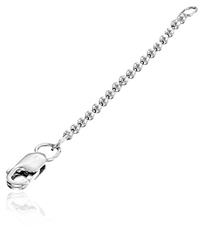 Alex Woo Sterling Silver Icon 1.5mm Chain Pendant Enhancer, 2""