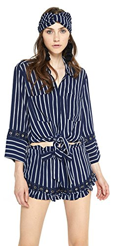 Misa Alma Top in Blue/White Stripe, XS