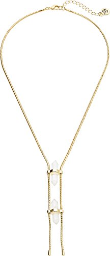 House of Harlow 1960 Women's Double Crystal Dainty Necklace Gold/Clear One Size