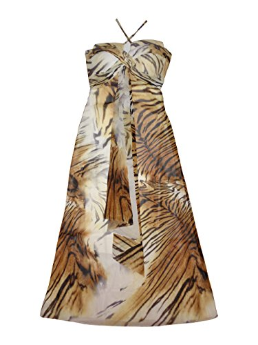 Roberto Cavalli Women's Long Dress Without Sleeves Medium Multicolor