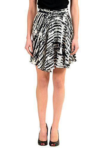 Versace Versus 100% Silk Multi-Color Women's Asymmetrical Skirt US XS IT 38