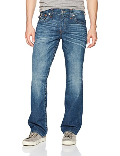True Religion Men's Straight Jean with Flap Back Pockets, Lost Adventure, 30