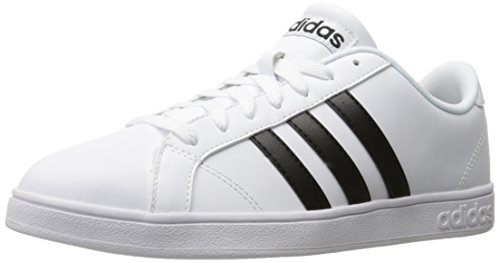 adidas Men's Baseline Fashion Sneakers, White/Black, (10.5 M US)