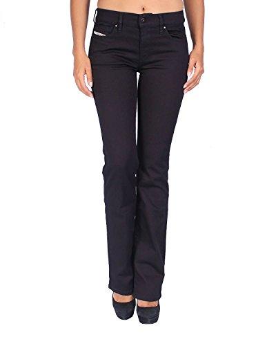 Diesel Women's Jeans BOOTZEE - Regular Slim Bootcut - Black, W27/L30