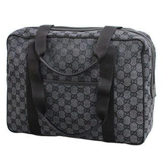 Gucci Unisex Brown Canvas Laptop Tote Bag Shoulder Handbag