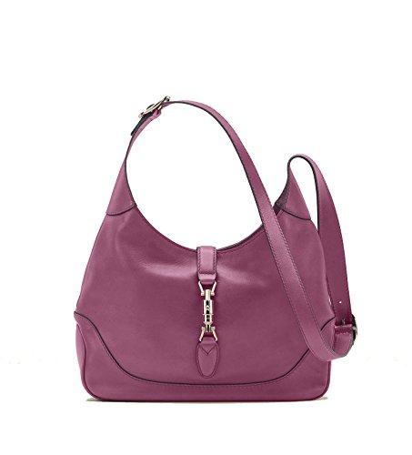 Gucci New Jackie Women's Shoulder Bag Handbag Pink Rose Leather AMKOG