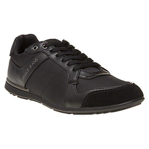Versace Jeans Nylon Lace Mens Sneakers Black
