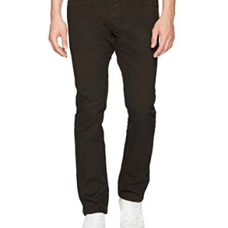 John Varvatos Men's Bowery Fit Jean, Zip Fly Bdll, Dark Brown, 36
