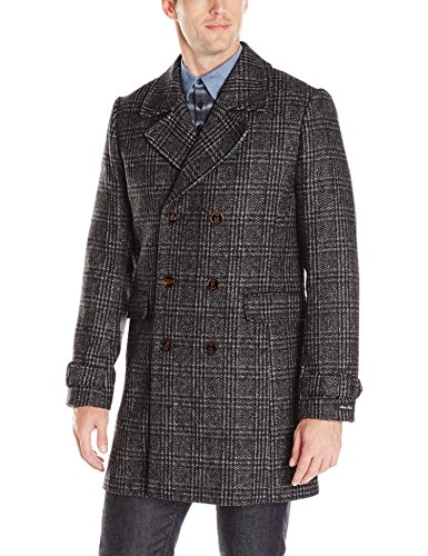 Ted Baker Men's Watts Double Breasted Coat, Charcoal, 4/Large