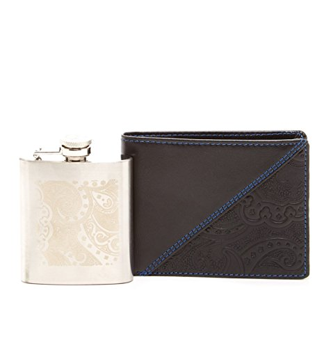 Robert Graham Men's Flask Slimfold Wallet Gift Set, One Size, Black