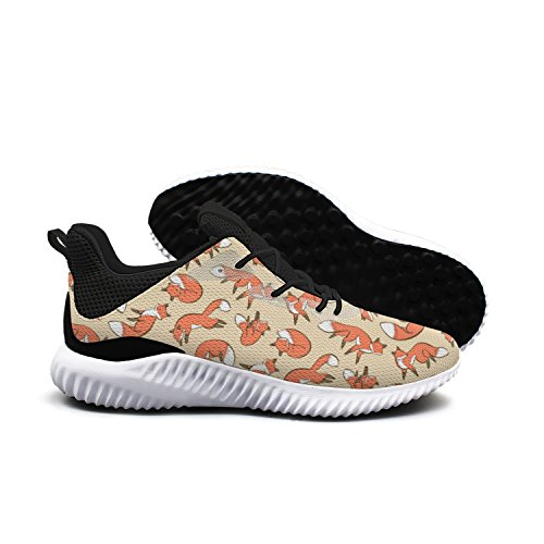 Cute Foxes Wild Animals Lover Orange Men Shoes Running Shoe Walking Shoes