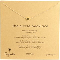 Dogeared Women's Circle Necklace Gold-Dipped One Size