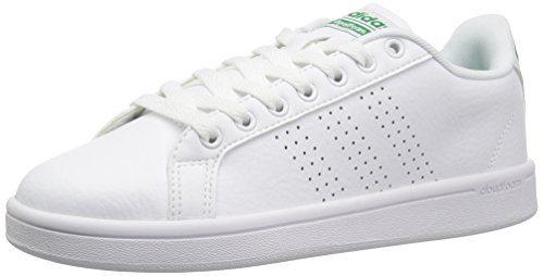 adidas Neo Men's Cloudfoam Advantage Clean Sneakers, White/White/Fairway, (10 M US)