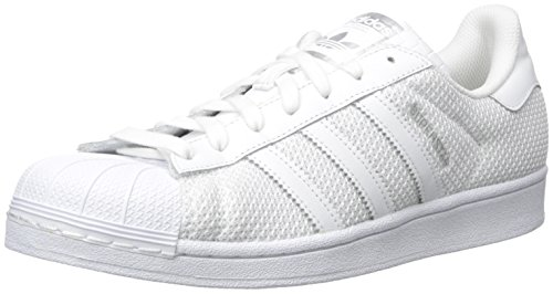 adidas Originals Men's Superstar Fashion Sneaker, White/White/White, 10.5 M US