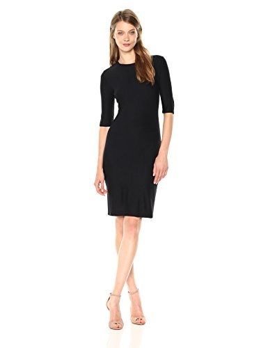 A|X Armani Exchange Women's Fitted Interlock Dress, Black, M