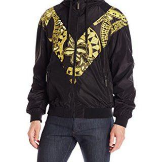 Versace Jeans Men's Full Zip Jacket, Nero, 48 (Small)
