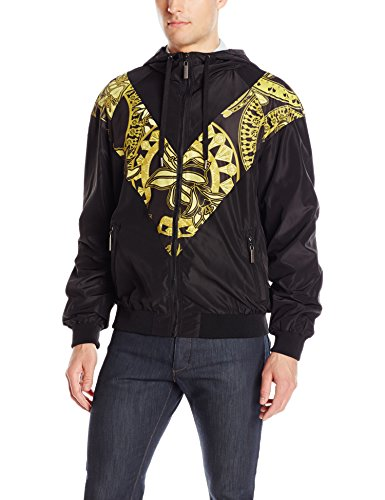 Versace Jeans Men's Full Zip Jacket, Nero, 48 (Small)