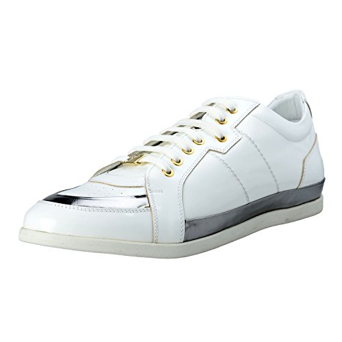 Versace Collection Men's Leather Fashion Sneakers Shoes US 11 IT 44