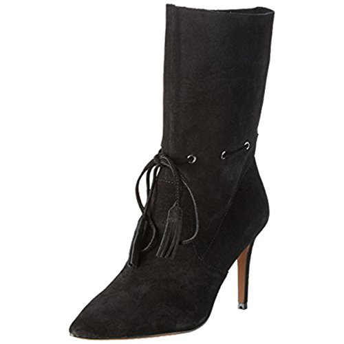 French Connection Womens Rowdy Pointed Toe Dress Boots Black 8.5 Medium (B,M)