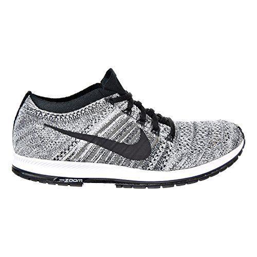 NIKE Flyknit Streak Unisex Running Shoes Black/Black-Wolf Grey-White (8 D(M) US)
