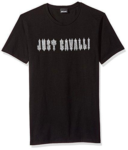 Just Cavalli Men's Signature Tee, Black, XL