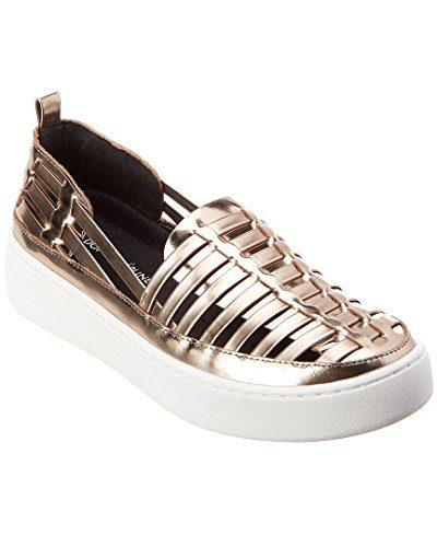 Donald Pliner Cierra Leather Sneaker, 9.5, Metallic