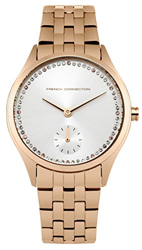 French Connection Ladies Rose Gold Plated Bracelet Watch