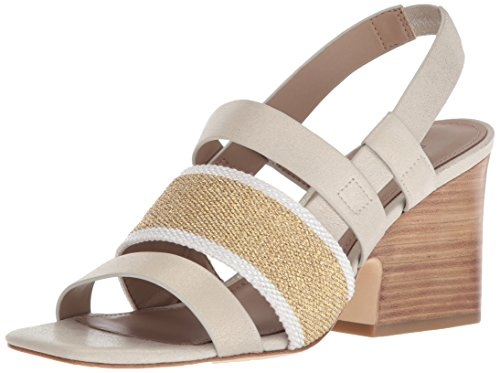 Donald J Pliner Women's Mae Heeled Sandal, Platino, 7.5 Medium US
