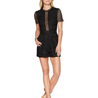 Ted Baker Women's Daycee Chemical Lace Playsuit, Black, 0