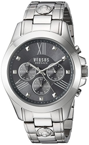 Versus by Versace Men's Chrono Lion Analog Display Quartz Silver Watch