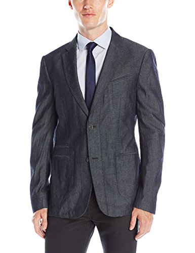 John Varvatos Men's Notch Lapel Blazer, Indigo, 48