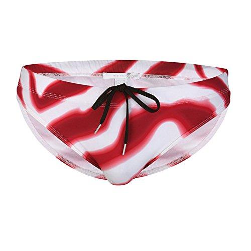 Just Cavalli Men Red & White Beach Swim Briefs Pool Lycra Swimsuit S US EU 48
