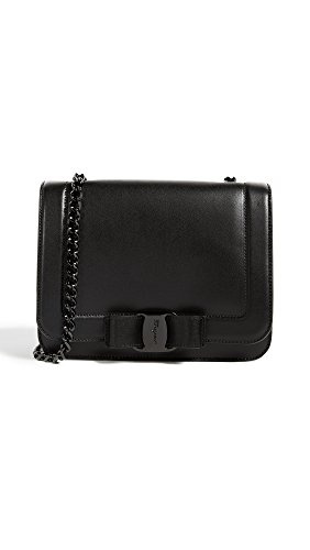 Salvatore Ferragamo Women's Vara RW Small Cross Body Bag, Nero, One Size