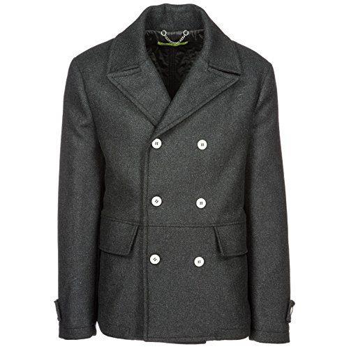 Versace Jeans Men's Double Breasted Coat Overcoat Grey US Size 48 (US 38)