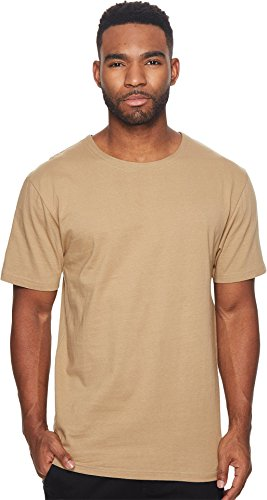 Publish Men's Deven Premium Knit Short Sleeve Tee w/Contrast Poplin Back Tan XX-Large