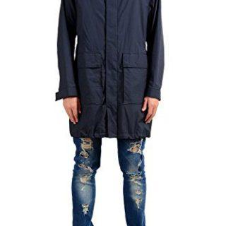 """Hugo Boss Casco1"""" Men's Blue Windbreaker Coat With Detachable Hood US S IT 48"""