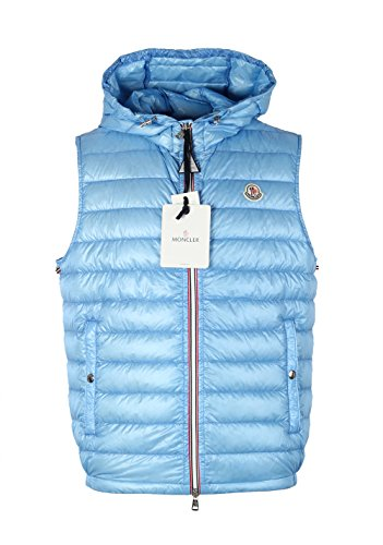 Moncler CL Blue Gien Hooded Shell Gilet Vest Size 5/XL/54/44 U.S.