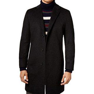 Hugo Boss Mens Stratus Pea Coat Black 42R