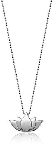 "Alex Woo Little Faith Sterling Silver Lotus Blossom Pendant Necklace, 16"""