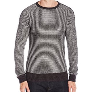 BOSS Orange Men's Arkuso Textured Knit Sweater, Dark Grey, Large