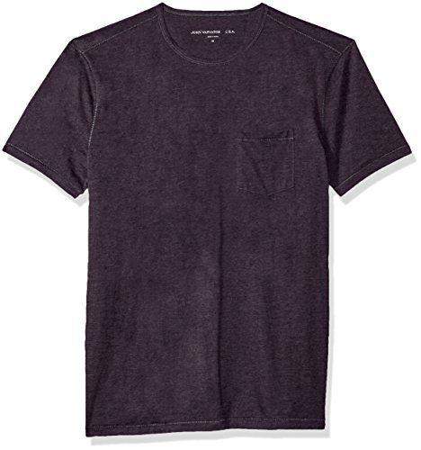 John Varvatos Men's Short Sleeve Crew Neck, Dusty Violet, Extra Large