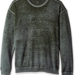 John Varvatos Men's Drop-Shoulder Crewneck 391, Olive Branch, XX-Large
